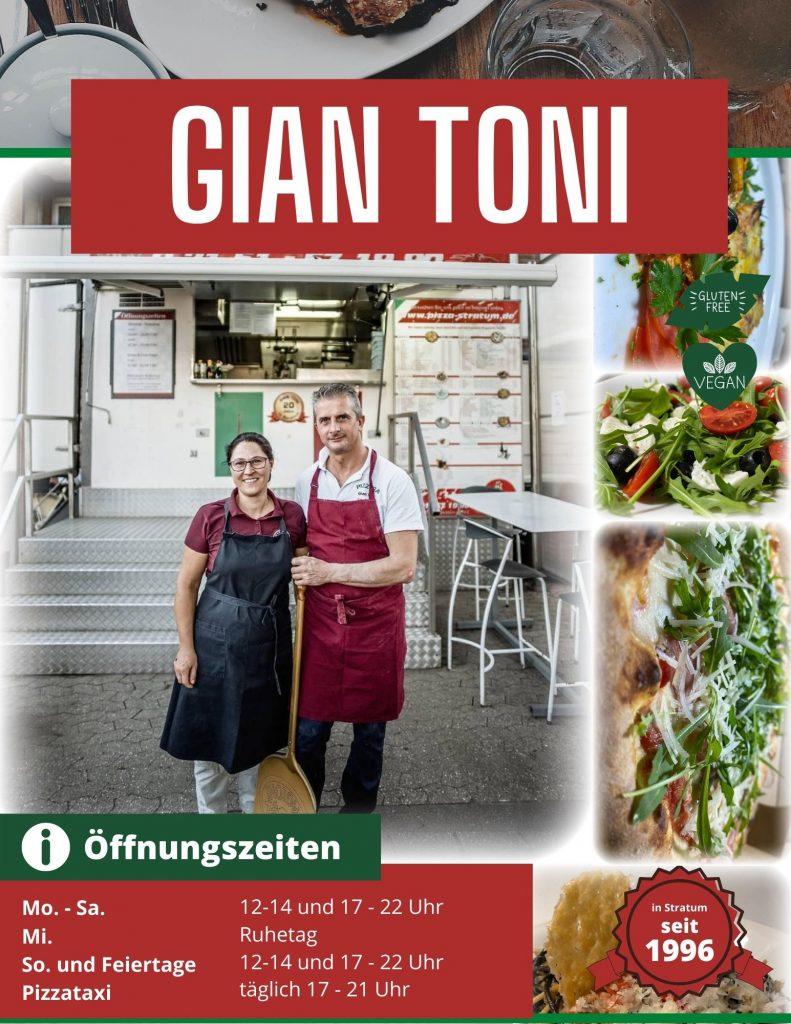 Speisekarte Pizzeria Gian Toni
